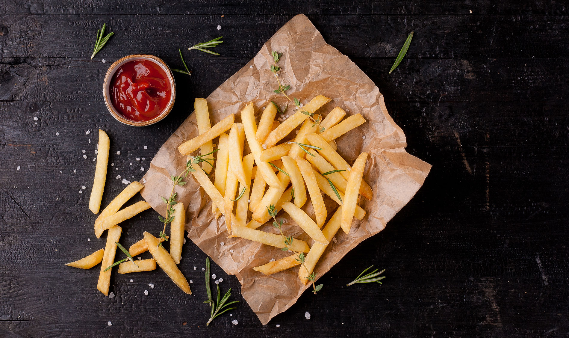 French fries and poutines